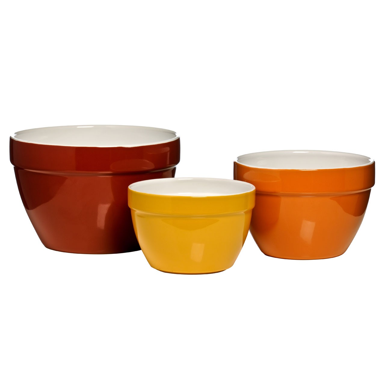 3 Mixing Bowl Set Robust Ceramic Will Complement Most Kitchen's