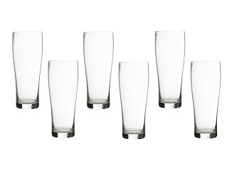 Prime Furnishing Hi Ball Glass, Clear, 300ml - Set 0f 6
