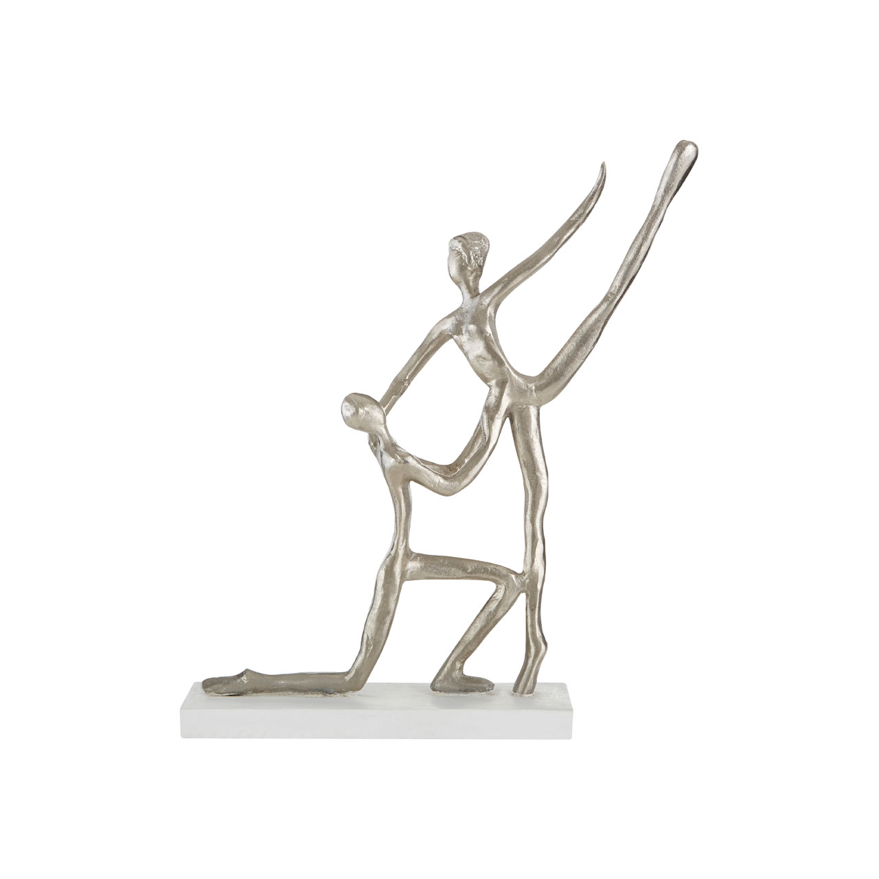 Prime Furnishing Complements Dancing Couple Figurine - Silver