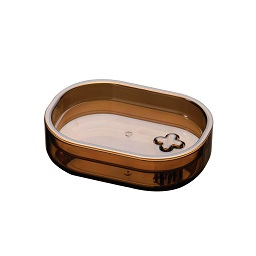 Prime Furnishing Plastic Soap Dish - Smoke Brown