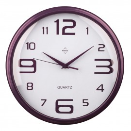 Prime Furnishing Wall Clock, Purple, Plastic