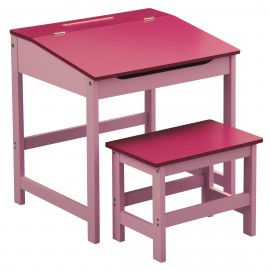 Children'S Desk And Stool Pink