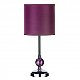 Desk Lamp Shades on Chrome Table Lamp With Purple Glass Ball And Shade  Pf2501225      19